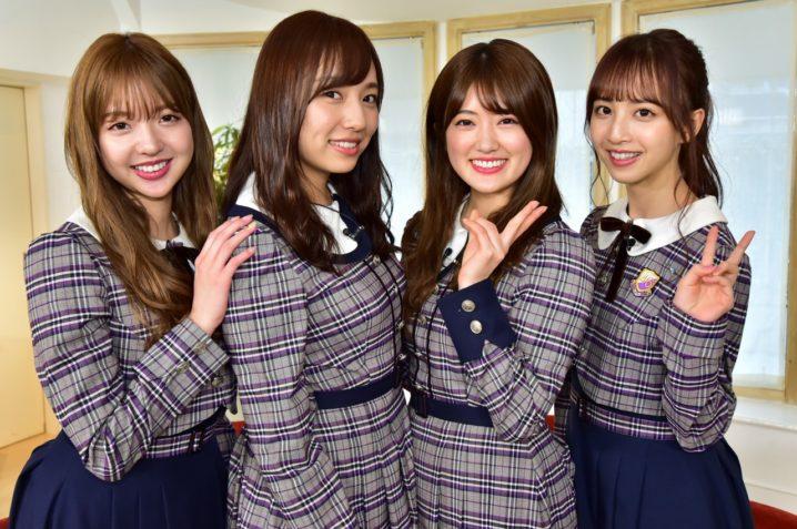 左から:和田まあや、 新内眞衣、 樋口日奈、 佐藤楓(乃木坂46)