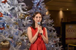 堀田茜/「HERBIS クリスマスツリー点灯式」2019年11月8日