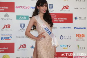 岡田朋峰/2019年11月12日、東京ドームシティホールにて開催された「第59回ミスインターナショナル世界大会」にて/PHOTO:ACTRESS PRESS編集部