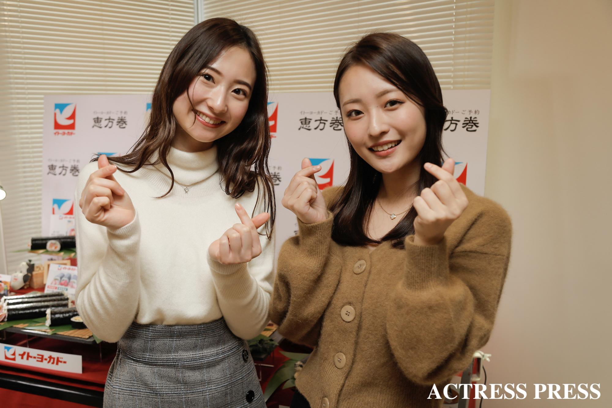 左・竹内彩花、右・赤木希/2020年1月16日/撮影:ACTRESS PRESS編集部