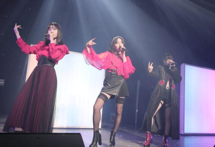 NMB48の梅山恋和・上西怜・山本彩加によるユニットLAPIS ARCH/2月14日(金)、大阪・COOL JAPAN PARK OSAKA WW ホールにて