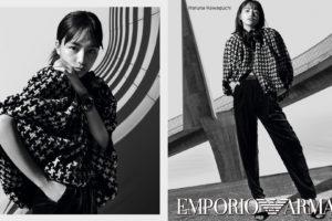 女優・川口春奈、エンポリオ アルマーニ2020秋冬広告キャンペーンモデル