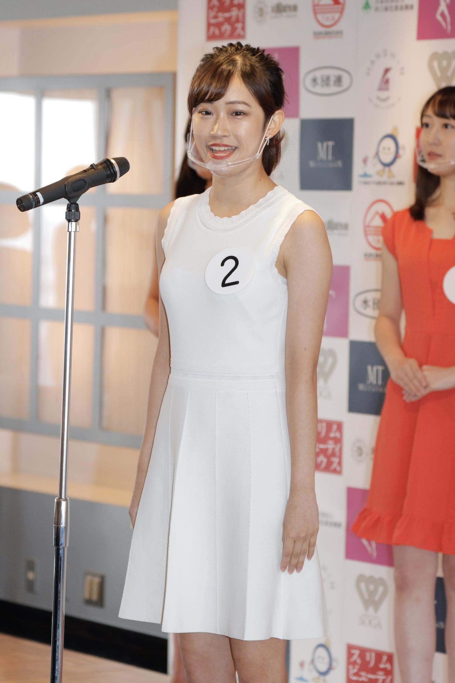 嶺 百花『第53回ミス日本コンテスト2021』東日本地区大会よりファイナリスト/撮影:ACTRESS PRESS