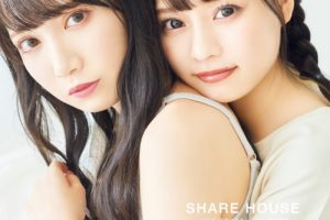 『=LOVE』(イコールラブ)の齊藤なぎさ(右)と姉妹グループ『≠ME』(ノットイコールミー)の鈴木瞳美さん(左)