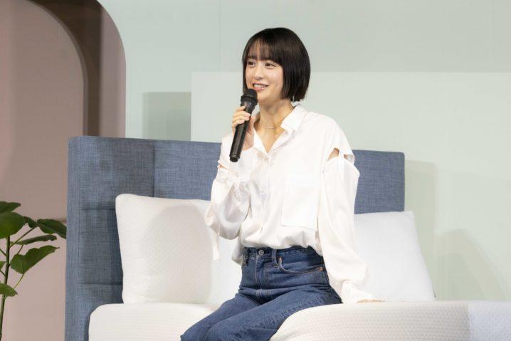 山本美月/世界的な家具ブランド『ZINUS(ジヌス)』日本上陸&ブランドアンバサダー発表会にて(2020年11月11日)