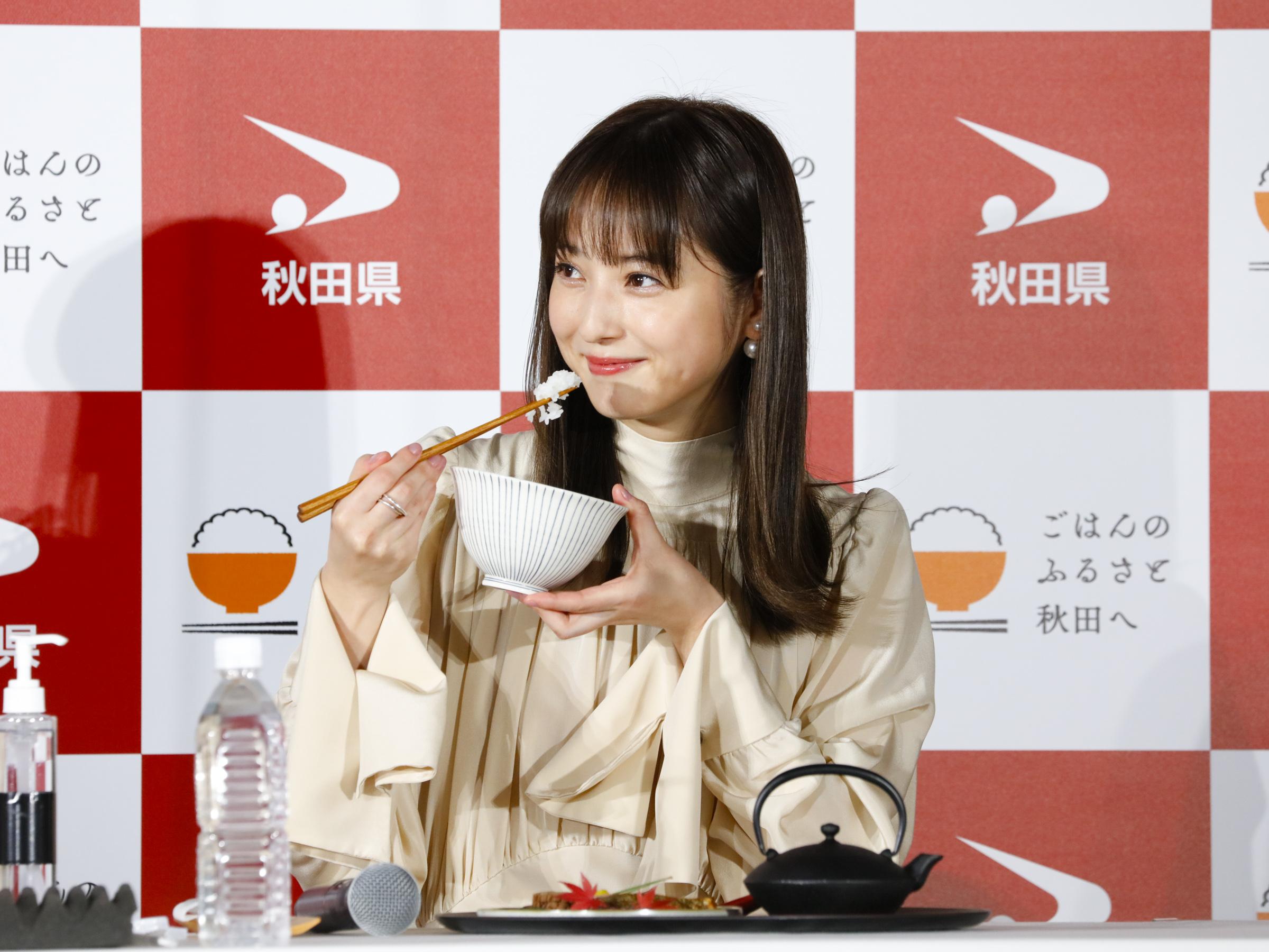 佐々木希/秋田県の新ブランド米・名称発表イベントにて(2020年11月17日)