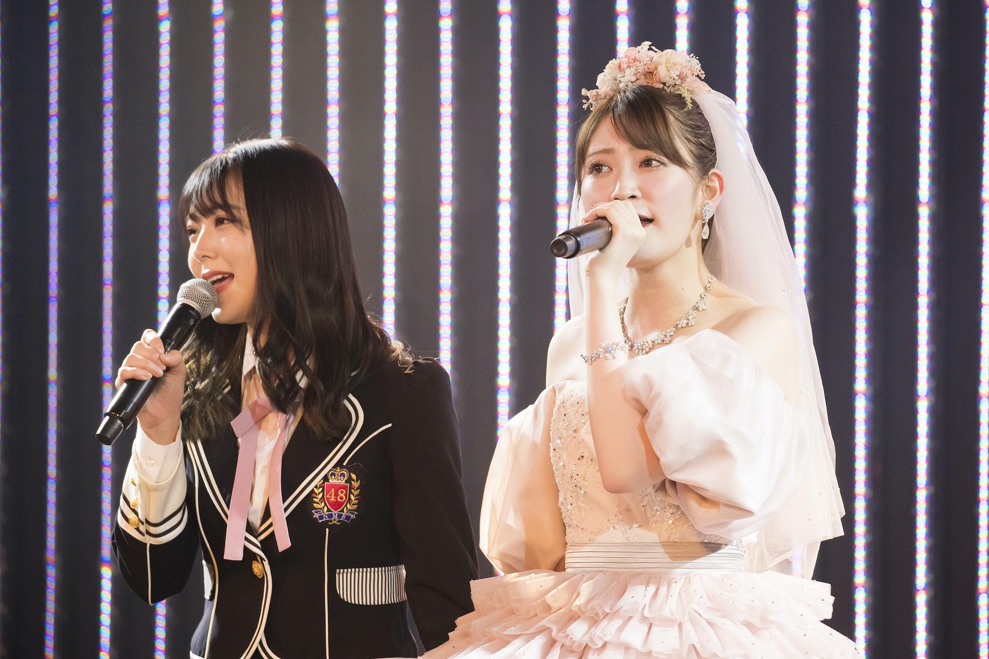 吉田朱里/12月21日、NMB48劇場での卒業公演にて