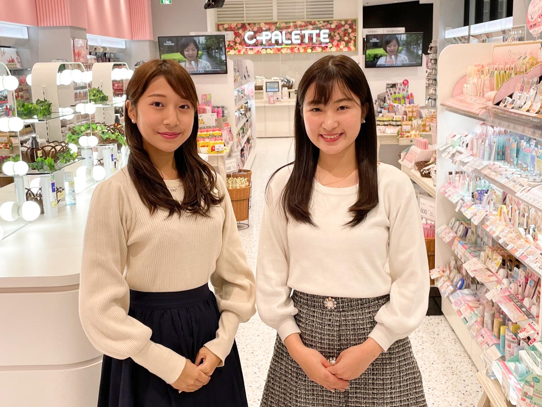 松本栞(上智大学2年)、川口桃奈(成蹊大学2年)