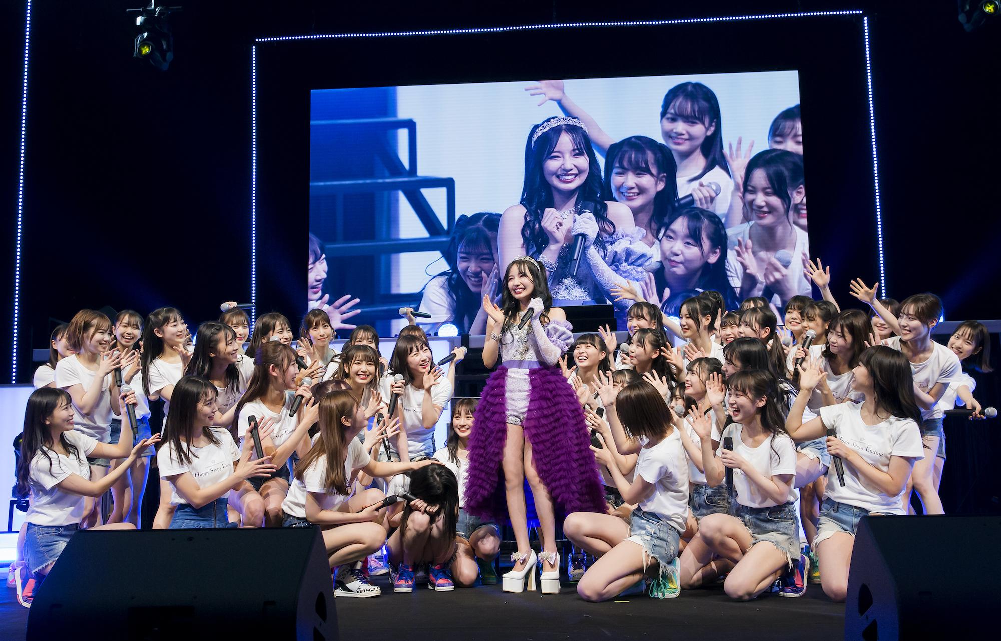 村瀬紗英(NMB48)卒業コンサート/12月14日、大阪・オリックス劇場にて ©NMB48