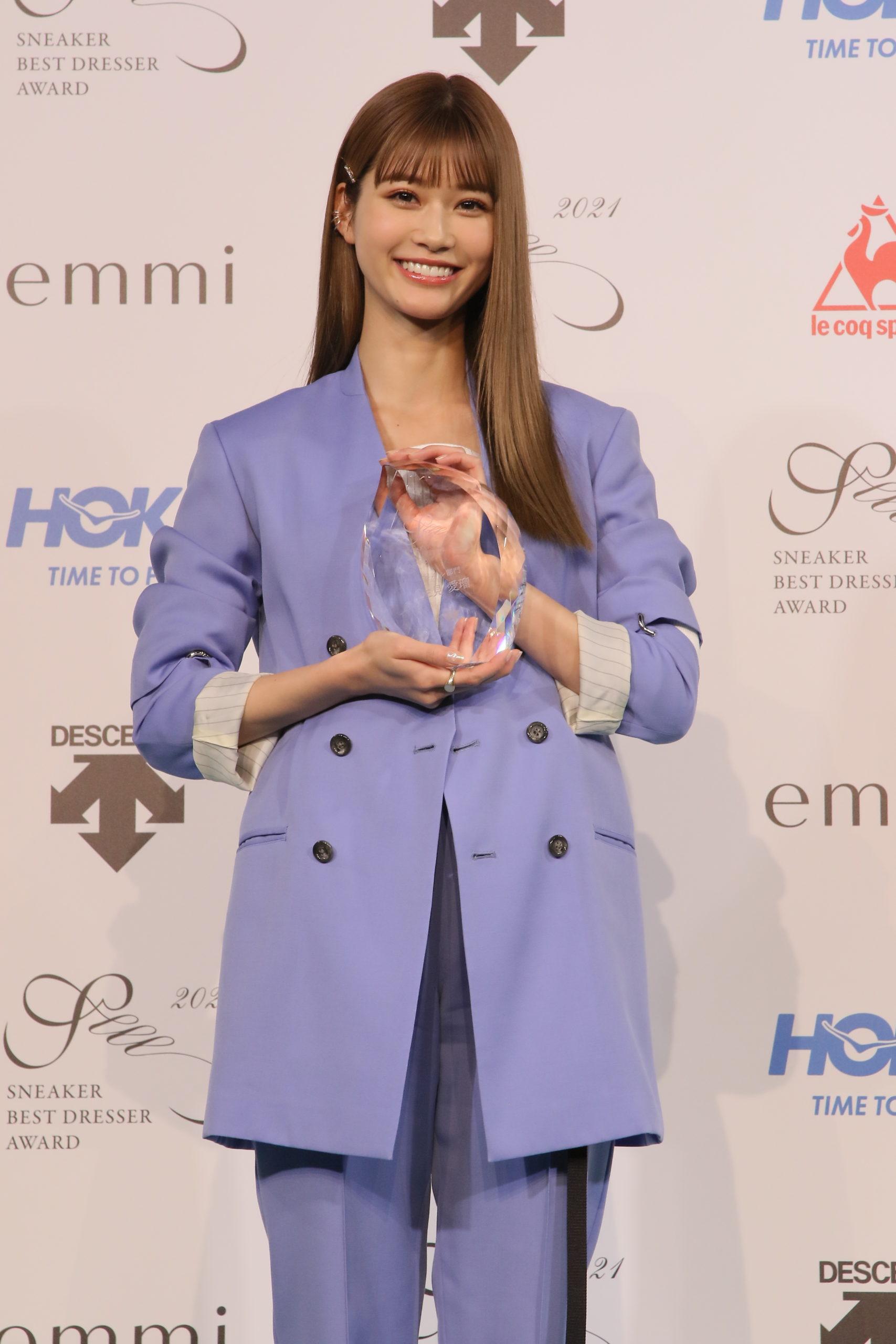 生見愛瑠/スニーカーベストドレッサー賞 2021 受賞
