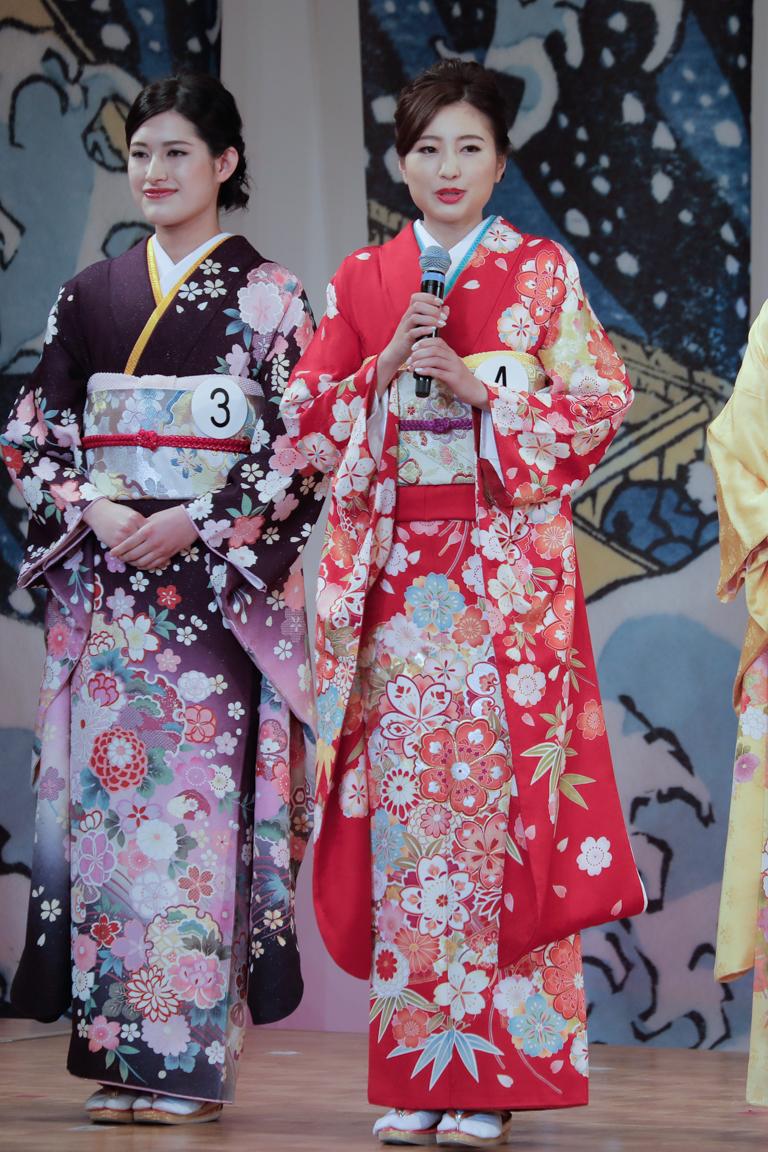 ミス日本コンテスト2021 着物審査