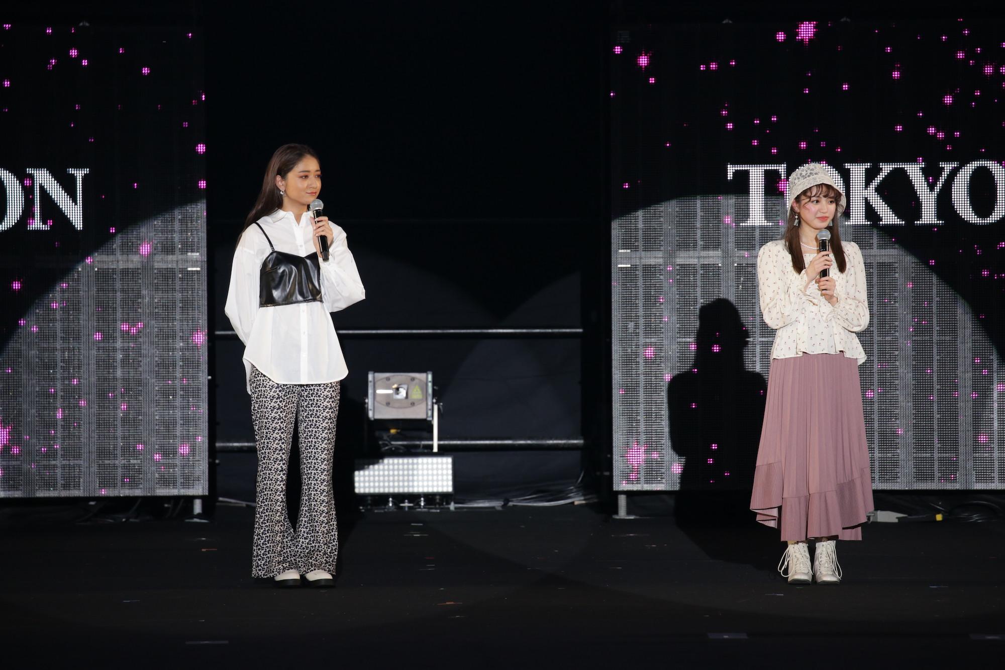 写真左~池田美憂、右~香音 TGC