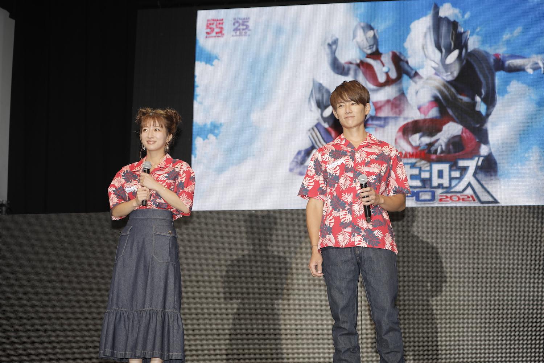 杉浦太陽&辻希美 in ウルトラヒーローズEXPO2021 サマーフェスティバル