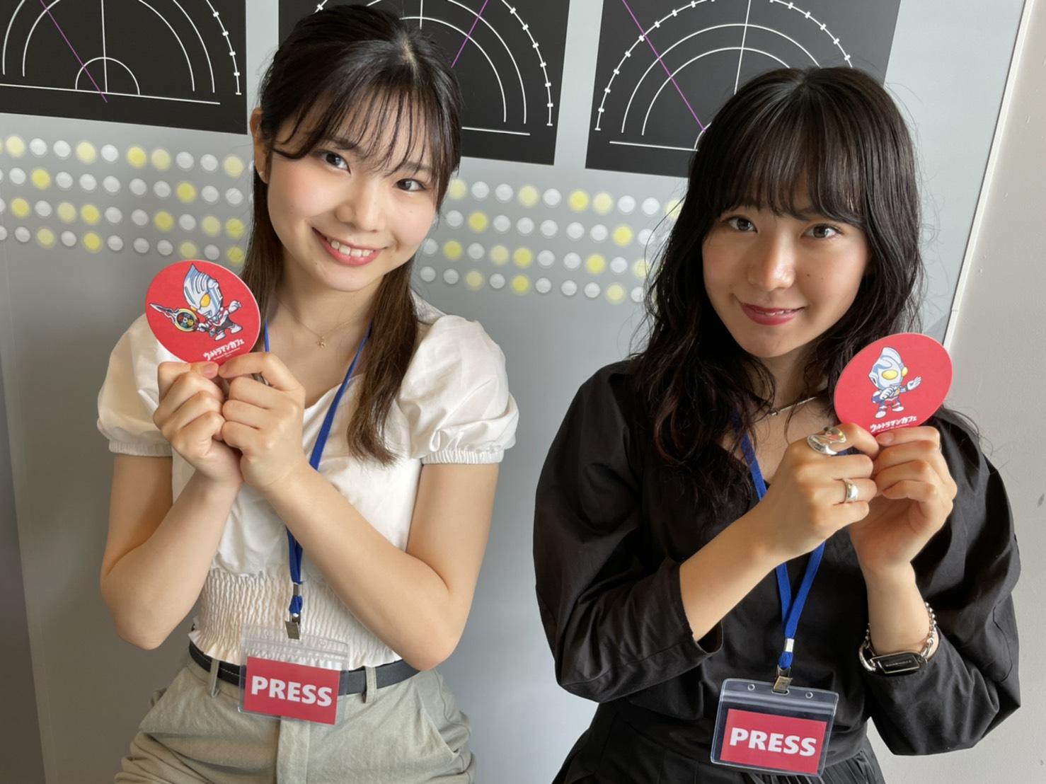 山本理々香・加藤優佳(ACTRESS PRESS Reporter)inウルトラマンカフェ