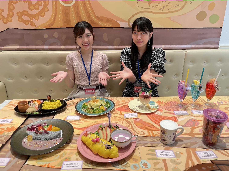 小栗あおい、大島千乃.ACTRESS PRESS REPORTER(リポーター)