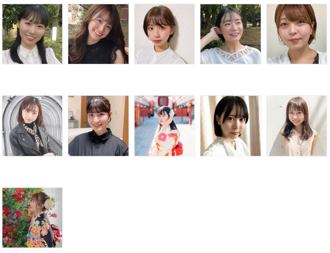 『MISS CIRCLE CONTEST 2021』三次審査通過者