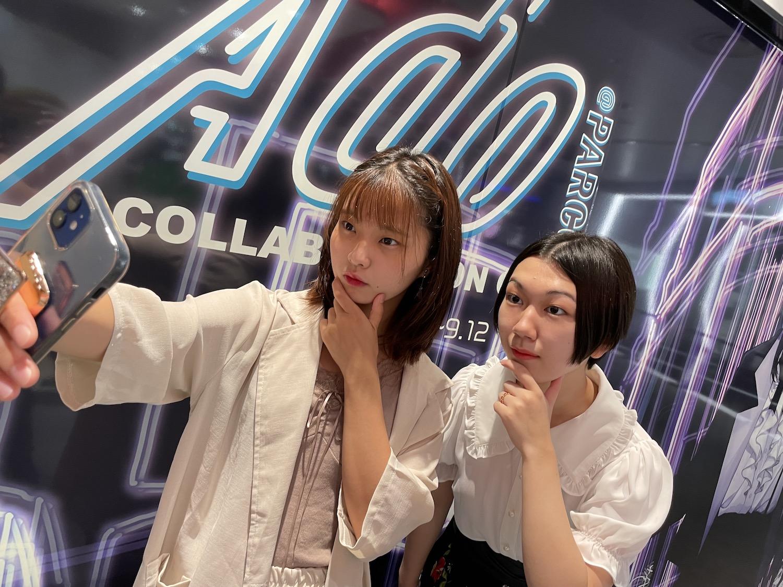 はせいあい(青山学院大学)・井上智尋(慶応義塾大学)ACTRESS PRESS REPORTER(アクトレスプレス・リポーター)in Ado Collaboration Cafe@PARCO 2021年8月