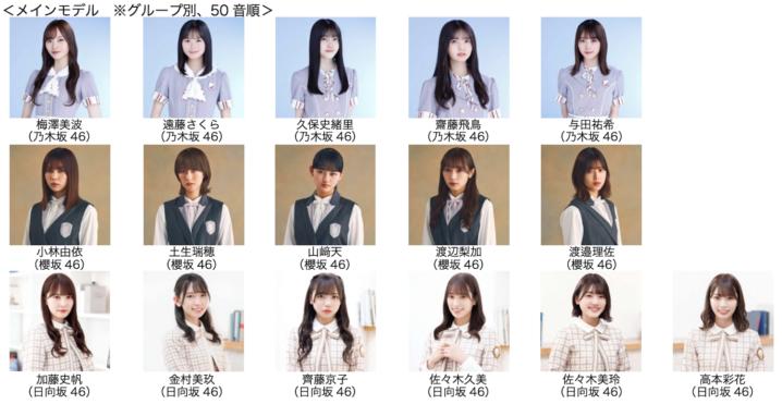 【TGC 2021 A/W】乃木坂46、櫻坂46、日向坂46のメンバーがメインモデルに決定!