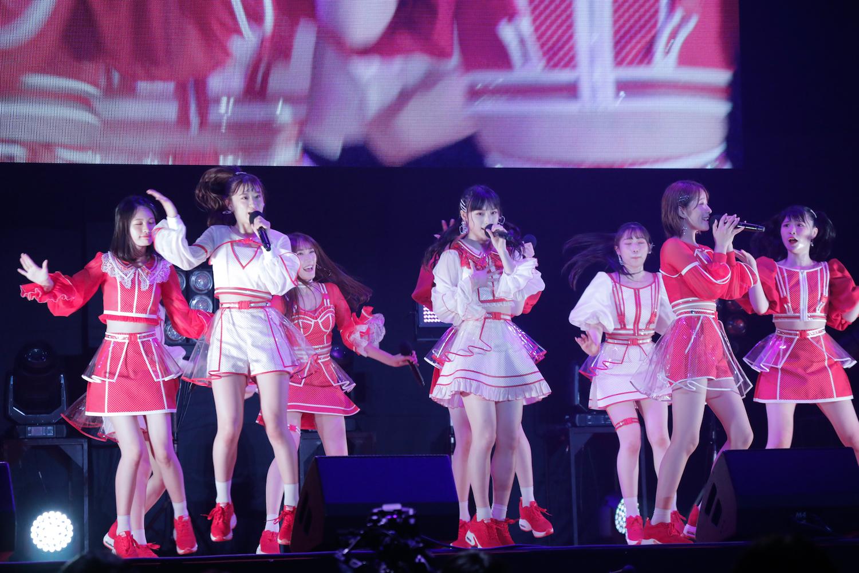 NMB48 安部若菜、梅山恋和、小嶋花梨、貞野遥香、塩月希依音、上西怜、新澤菜央、出口結菜、原かれん @JAM
