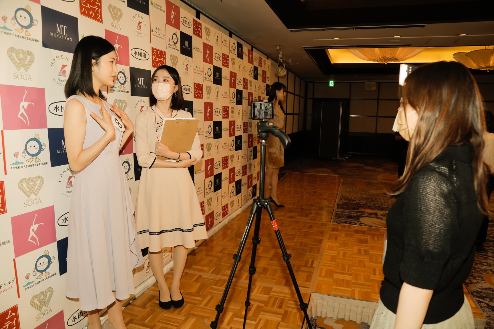 土屋佳蓮(青山学院大学) ミス日本 に梅田陽菜がインタビュー
