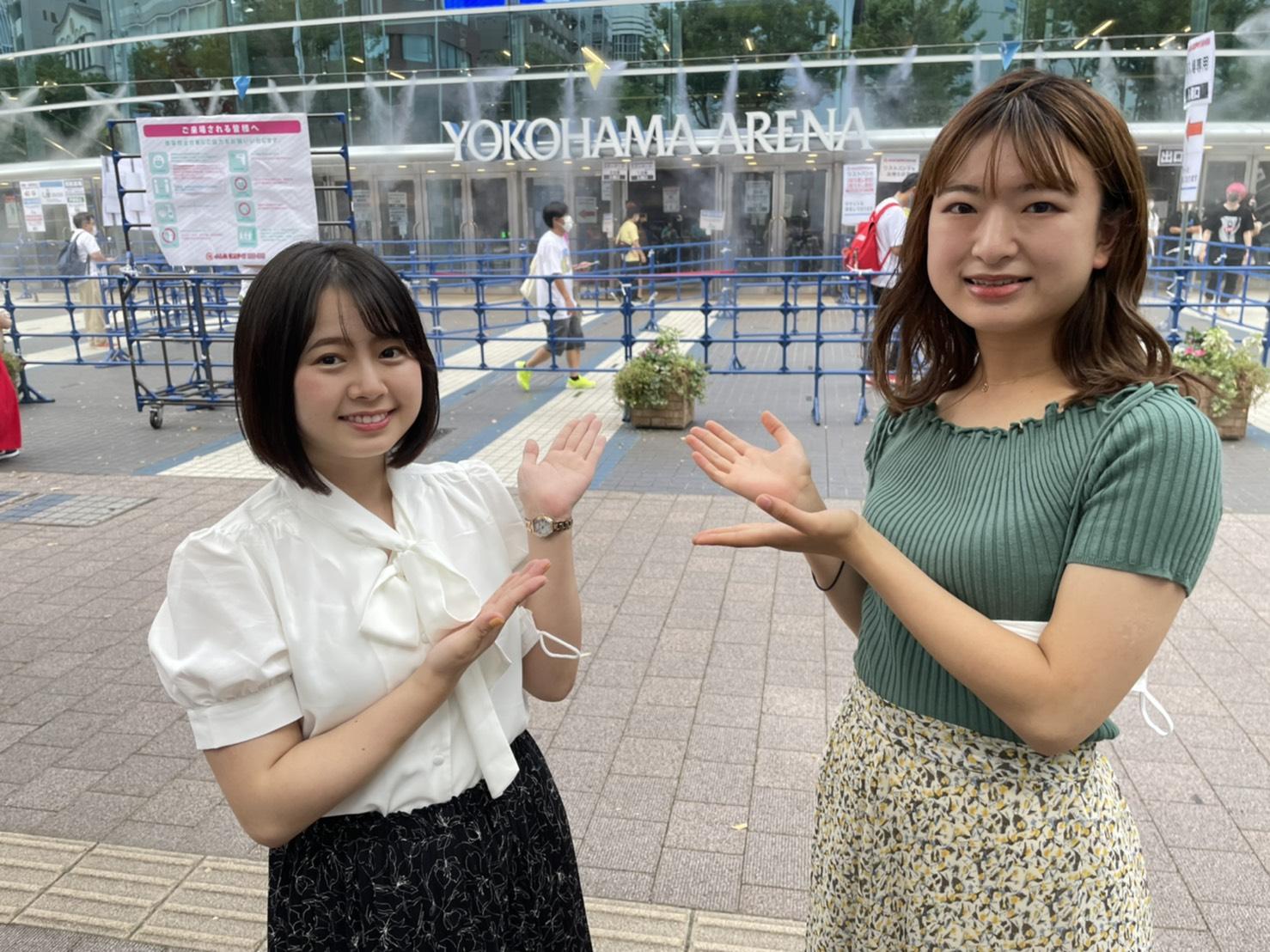 児玉瑞歩(お茶の水女子大学)、右~山内香味(東京女子大学)ACTRESS PRESS REPORTER in 横浜アリーナ